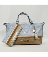 SET Brahmin Mini Asher Satchel/Shoulder Bag + Wallet in Sky Viognier Tri-Color - $349.00