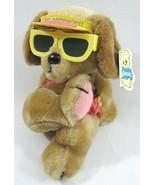 VTG Dakin Hot Dogging It Plush Brown  Puppy Dog in Bikini + Sunglasses 1... - £17.69 GBP