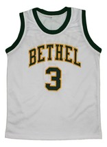 Allen Iverson #3 Bethel High School New Men Basketball Jersey White Any Size image 3