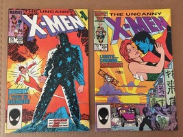 Uncanny X-Men #203 & 204 Marvel Comic Book Lot from 1986 VF+ Condition - $6.29