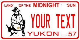 Yukon Canada 1957 License Plate Personalized Custom Car Bike Motorcycle ... - $10.99+