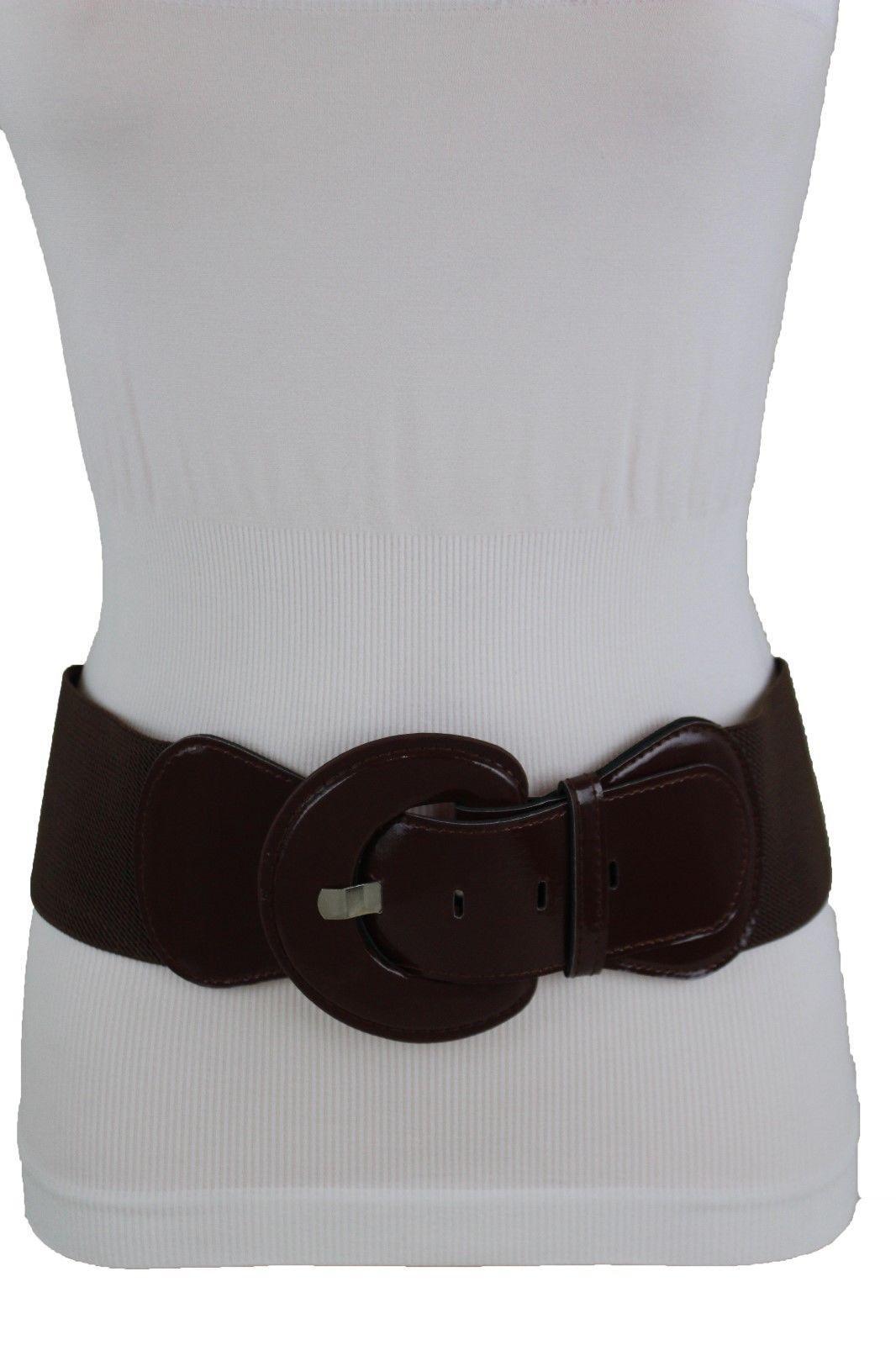 Women Western Fashion Elastic Belt Big Cross Waistband Cross Hip Waist Size M L