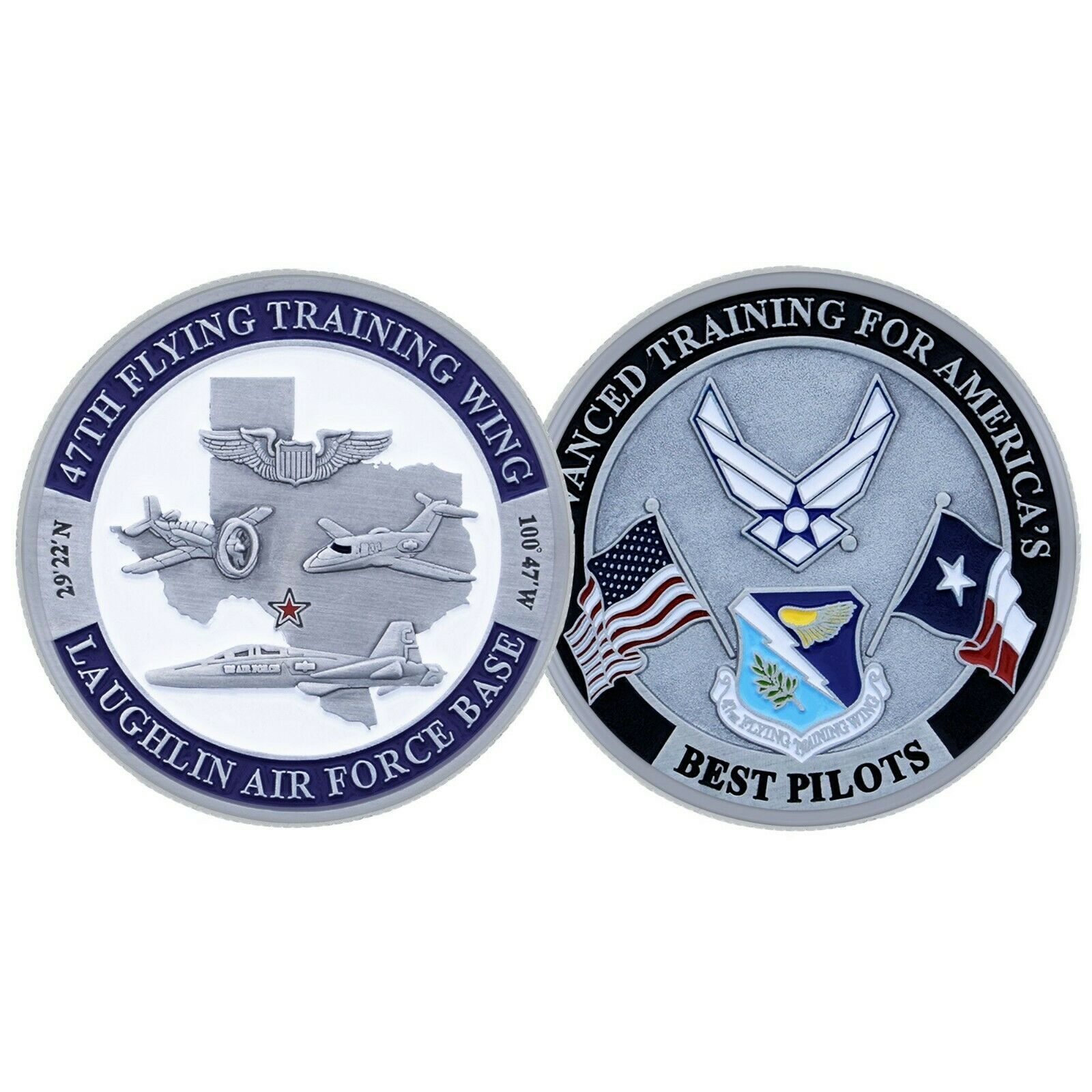 "LAUGHLIN AIR FORCE BASE BEST PILOTS 1.75"" CHALLENGE COIN"