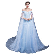 Women's Off Shoulder Floral Lace Beaded Long Formal Prom Dresses Evening Gowns - $199.99