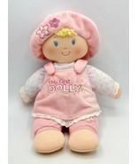 "Baby Gund My First Dolly 10"" Plush Stuffed Doll w/ Pink Flower Hat & Jumper - £7.19 GBP"