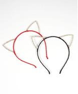 CRYSTAL CAT EARS, CAT EARS HEADBAND, RAVE CAT EARS, FESTIVAL CAT EARS, R... - $15.80