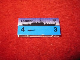 1988 The Hunt for Red October Board Game Piece: Leander Blue Ship Tab- NATO - $1.00