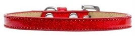 Mirage Pet Products Plain Ice Cream Dog Collar, Size 12, Red - $11.89