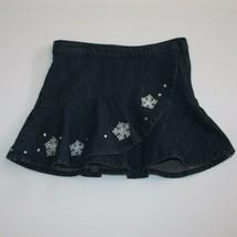 Gymboree Snowflake Shimmer Gem Ruffle Jean Skort Skirt size 4 - $12.99