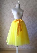 YELLOW Midi Tulle Skirt Yellow Wedding Bridesmaid Tulle Skirt 6-layer Tutu Skirt image 2