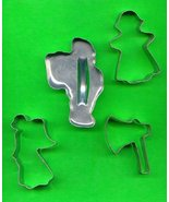 Lot of 4 Metal Cookie Cutters ck16 - $5.00