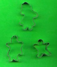 Lot of 3 Metal  Cookie Cutters ck19 - $5.00