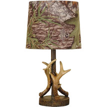 Oak Deer Antler Accent Lamp, Dark Woodtone - $41.49