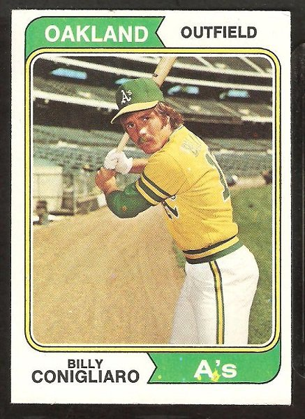 Primary image for OAKLAND A's ATHLETICS BILLY CONIGLIARO 1974 TOPPS BASEBALL CARD # 545 VG/EX