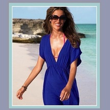 Summer Beach Wear Many Colors Mini Swimsuit Cover-up Dresses image 1