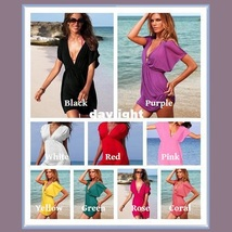 Summer Beach Wear Many Colors Mini Swimsuit Cover-up Dresses