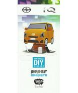 2013 Scion iQ Shin Tanaka DIY PAPER SHAPERS model kit brochure US Toyota - $8.00