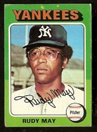 Primary image for NEW YORK YANKEES RUDY MAY 1975 TOPPS # 321 good