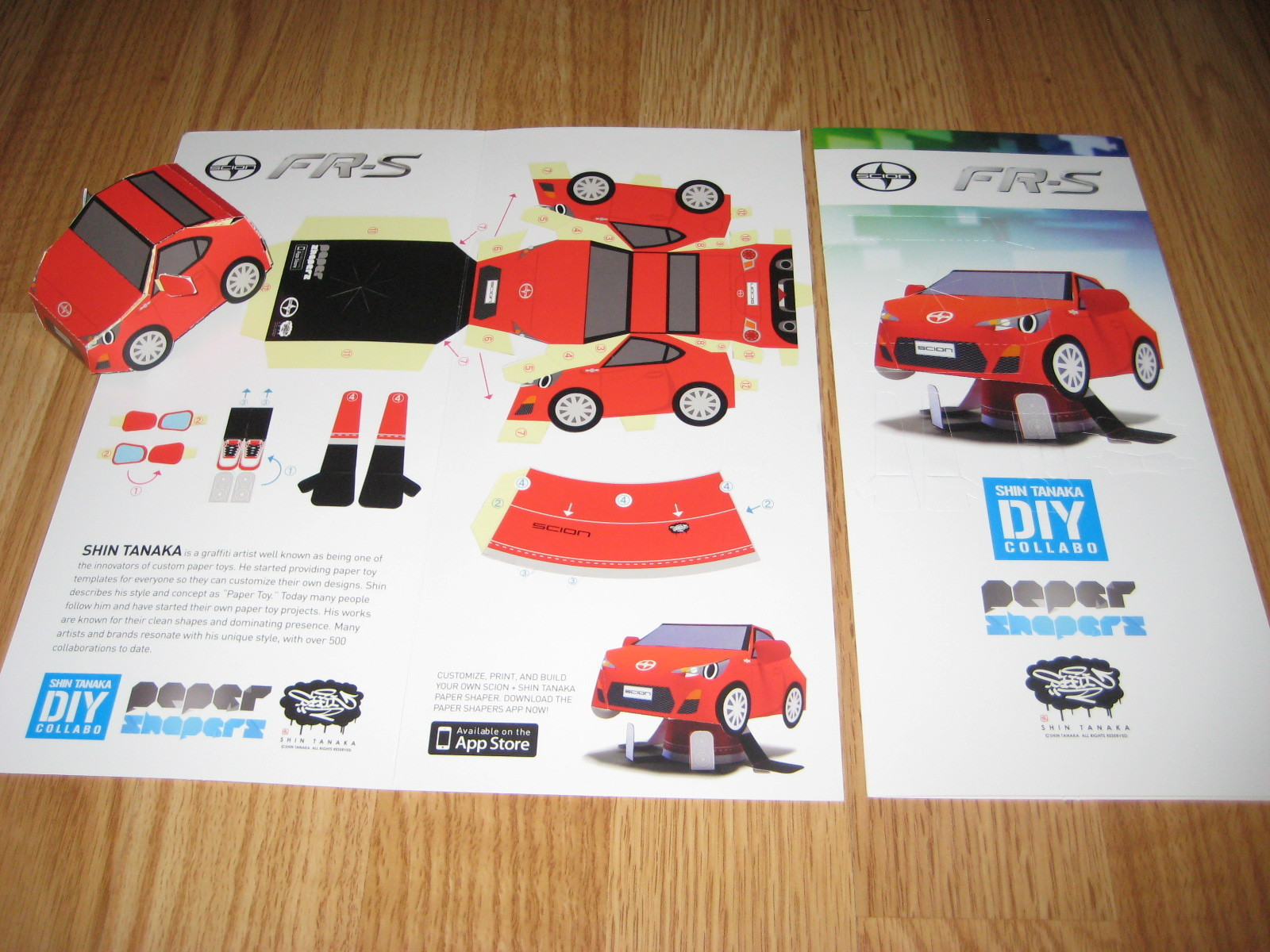 2013 Scion xD Shin Tanaka DIY PAPER SHAPERS brochure catalog US Toyota