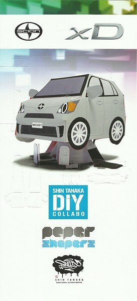 Primary image for 2013 Scion xD Shin Tanaka DIY PAPER SHAPERS brochure folder US Toyota