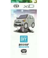 2013 Scion xD Shin Tanaka DIY PAPER SHAPERS model kit brochure US Toyota - $8.00