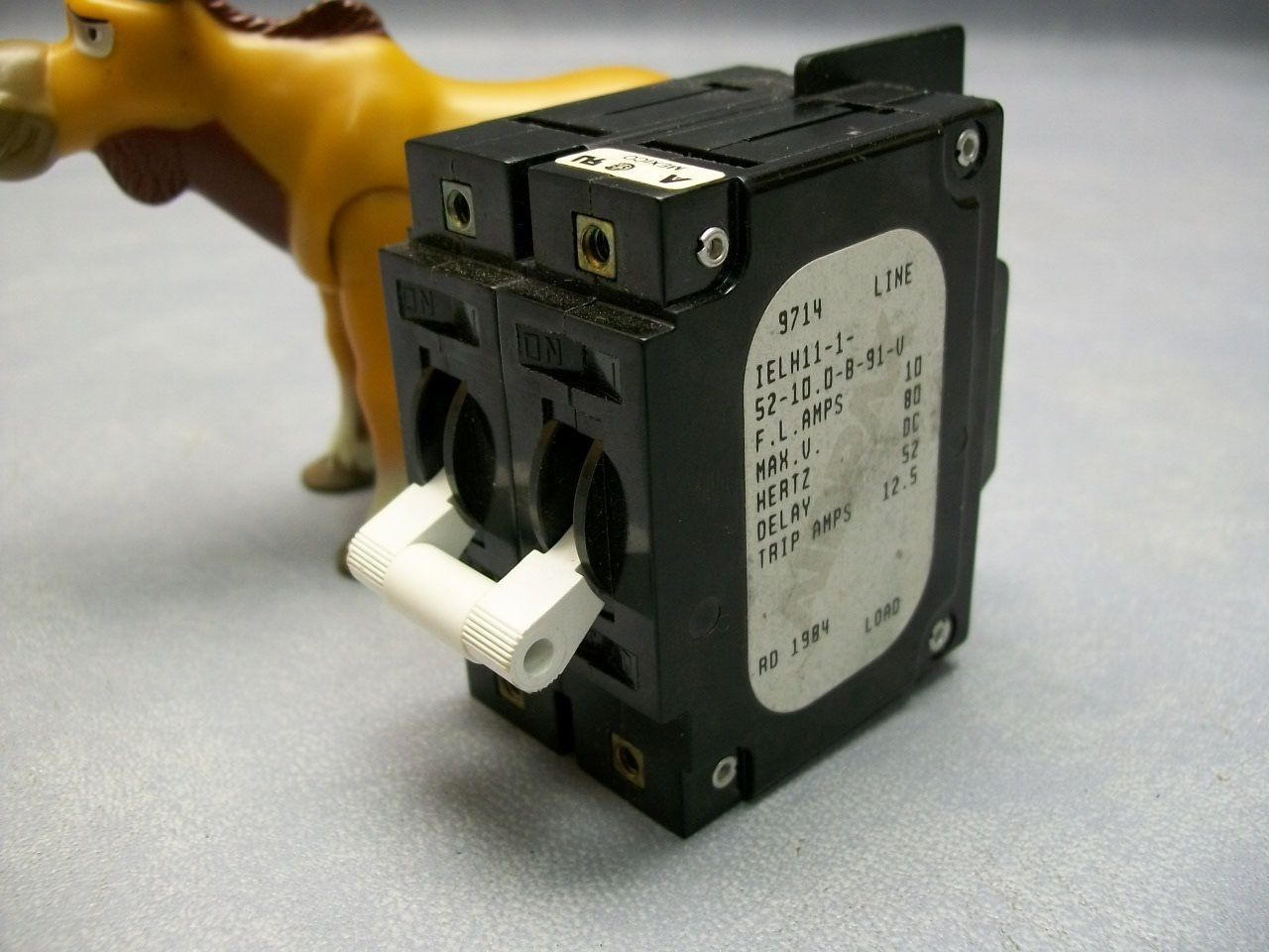 Primary image for IELH11-1-52-10.0-B-91-V Airpax Breaker F L 10amps Hertz DC Max 80v Delay 52