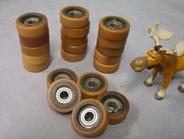 """Neoprene Wheels w/ Bearings 3/8"""" Shaft Lot of 20 - $110.18"""