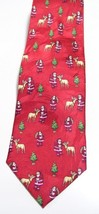 "Christmas SILK Mens Necktie Tie Red Long 60"" Novelty NWT - $24.99"