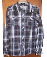 Men's Eighty Eight Platinum Long Sleeve Casual Shirt Size XL Black Blue ... - $14.44