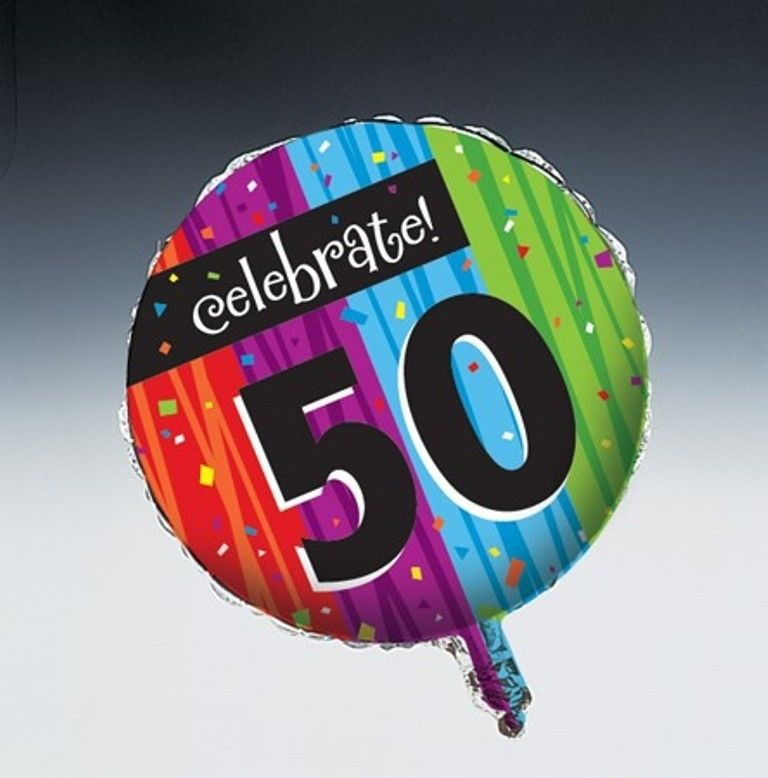 Milestone Foil Balloon Age 50 Birthday Milestones Celebrations Party