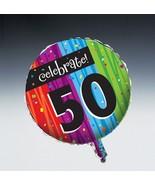 Milestone Foil Balloon Age 50 Birthday Milestones Celebrations Party - $2.84