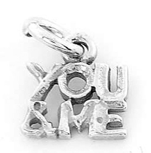 STERLING SILVER YOU AND ME CHARM/PENDANT