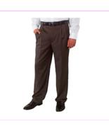 Kirkland Signature™ Men's Wool Pleated Dress Pant, Brown Herringbone, 34x34 - $15.39
