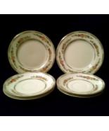 Brandon J&G Meakin Plate Lot 2 Bread+Butter 3 SM+3 LG Saucers Cream Gold... - $19.55