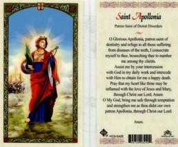 Apollonia Patron Saint of Dental Disorders - Item EB092 - Laminated Cath... - $2.79