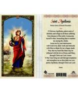 Apollonia Patron Saint of Dental Disorders - Item EB092 - Laminated Cath... - $1.99