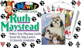 Playing cards: Shih Tzu Dog Playing Cards Designed by Ruth Maystead - $6.64