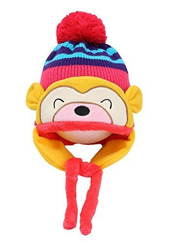 Fashion Baby Hats Winter Baby Earmuffs Cap Hats ROSE, 1-4 Years