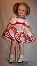 Shirley Temple 1994 Danbury Mint  Porcelain Doll in Original Box, W/Stand - $75.00