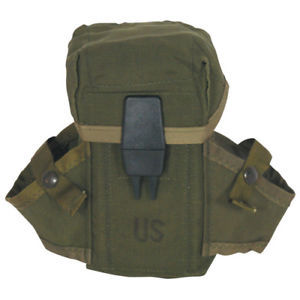 USGI Military US Army Surplus Ammo OD Alice Clip Mag Pouch