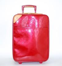LOUIS VUITTON Pomme D'Amour Red Monogram Vernis Pegase 45 Suitcase Cabin... - $1,838.95