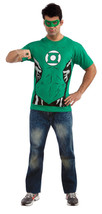 Rubies DC Comics Green Lantern Adult Mens Halloween Costume T Shirt 880469 - $18.99