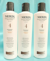 3~ Nioxin 4 Scalp Therapy Conditioner Fine Thinning Hair Chemically Trtd 10.1 Oz - $28.20
