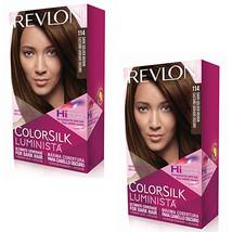 Pack of (2) New Revlon Colorsilk Luminista Haircolor, Dark Golden Brown - $23.39