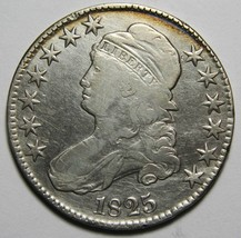 1825 Capped Bust Half Dollar 50¢ Coin Lot# MZ 4207