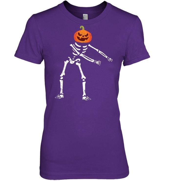 Flossing Skeleton Funny Pumpkin Lover Floss Tshirt