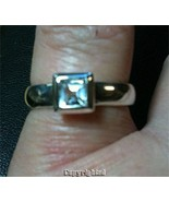 0.45ctw Natural White Topaz Ladies Ring .925 St... - $42.00