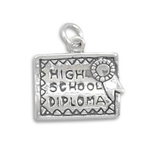 Sterling Silver High School Diploma Charm - €21,02 EUR
