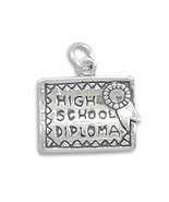 Sterling Silver High School Diploma Charm - $24.95