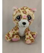 "Russ Leopard Jaguar Plush 5.5"" Tan Pink Big Eyes Stuffed Animal Toy - $4.46"